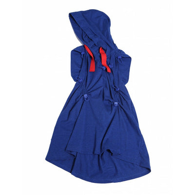 Bustled Cinched Hoodie Dress