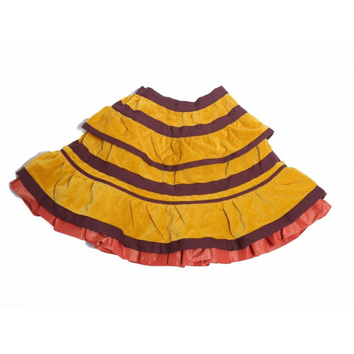 Ribbon Pleated Skirt