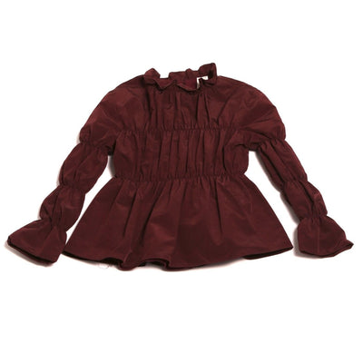 Berry Brunswick blouse