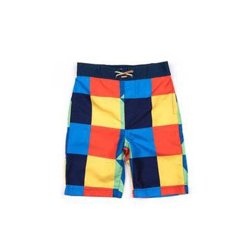 geometric swim trunks