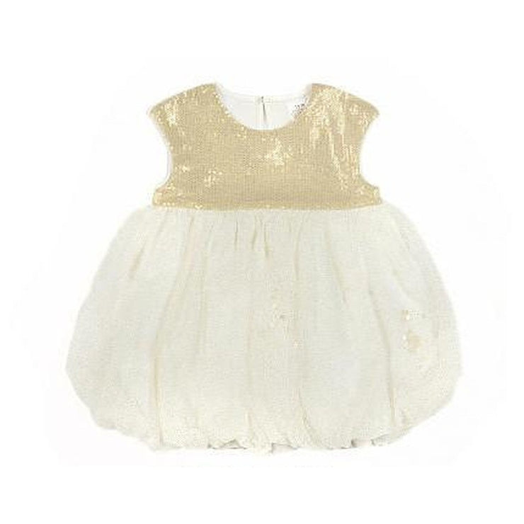 Gold Glitter Tulle Dress