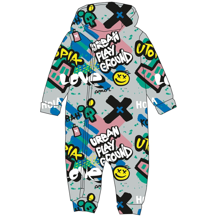 Multicolored Graffiti Onesie