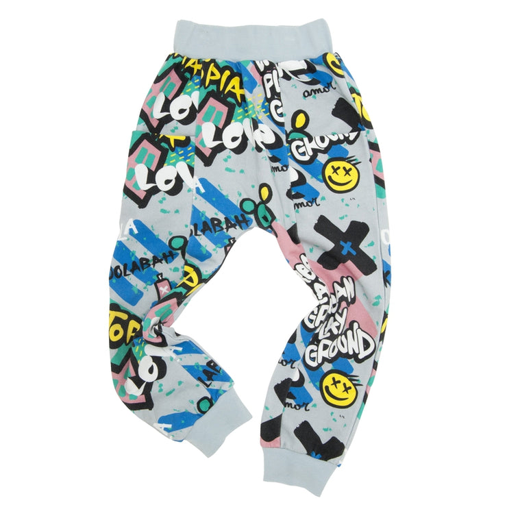 Multicolored Graffiti Pocket Pant