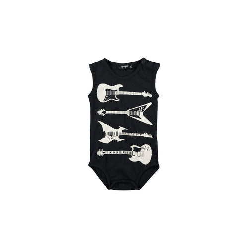 guitar black onesie