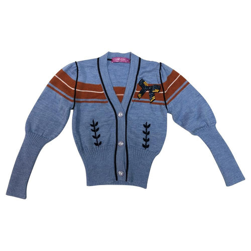 Copper and Blue Varsity Sweater