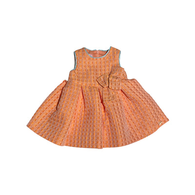 Orange Waffle Dress