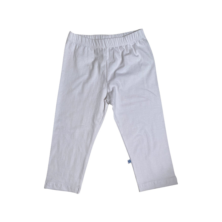 Solid Knit Capris White