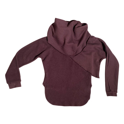 Cutaway Layered Wine Sweatshirt