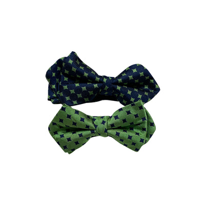 Daddy & Me Green Diamond Bowtie Set