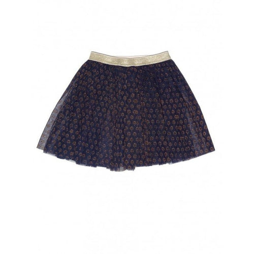 palm print net skirt
