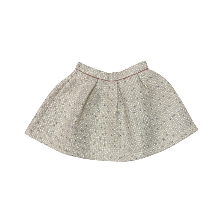 Jacquard Off White Skirt