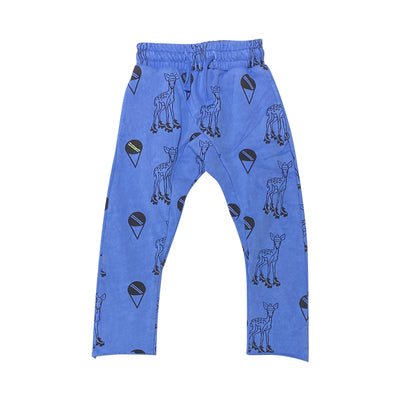 Blue French Terry Harem Pants