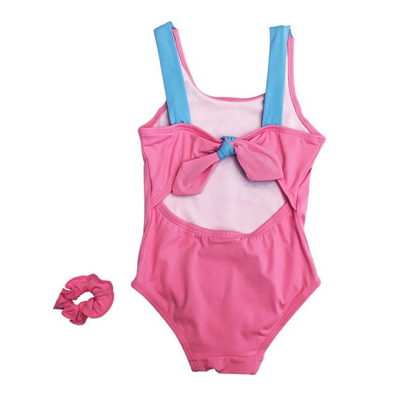 Pink and Blue Crown Swimsuit
