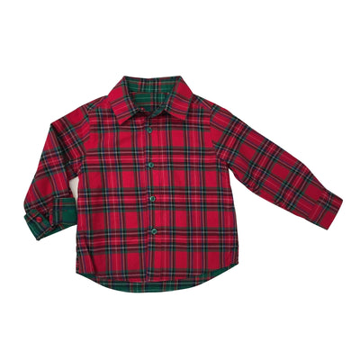 Reversible Plaid Flannel Shirt