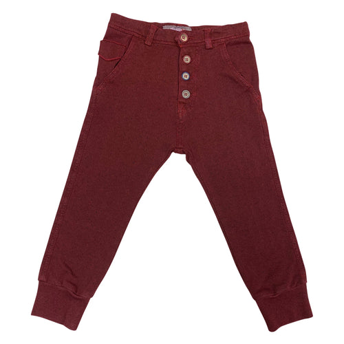 Red Buttoned Pants