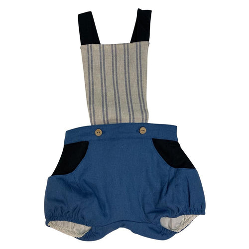 Dungarees With Removable & Reversible Bib