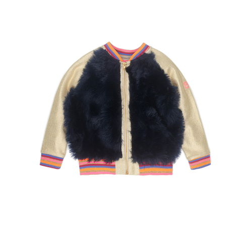 Becky Gold & Blue Fur Jacket
