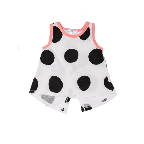Black Polka Dot with Open Back