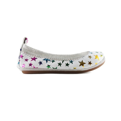 White Rainbow Metallic Shoes
