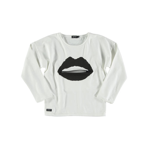 White Lips Girl Sweater