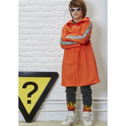 Slogan Long Orange Parka