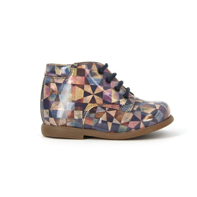 Blue Lilas Retro Boot