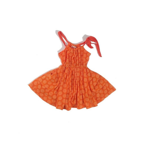 orange dot sundress