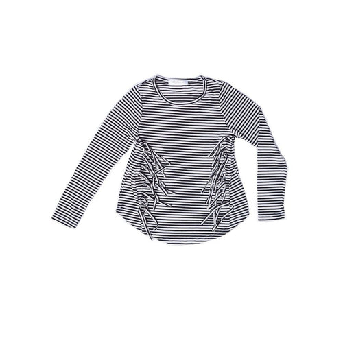 side fringe stripped top
