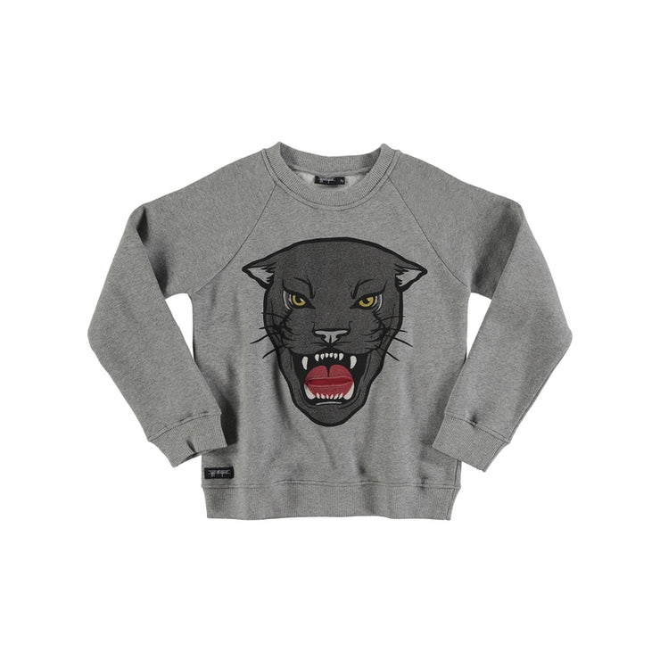 Grey Panther Pocket Sweatshirt