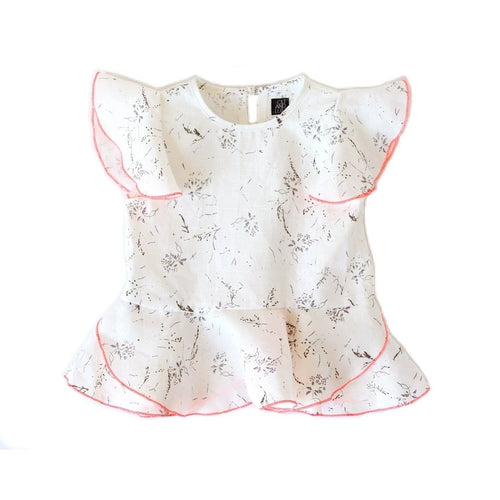 Off White and Lavender Petal Blouse
