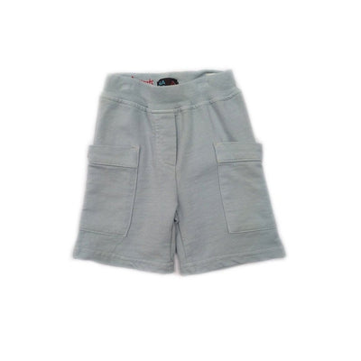 Grey Knit Cargo Short