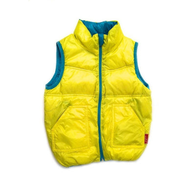 Yellow Reversible Bubble Vest