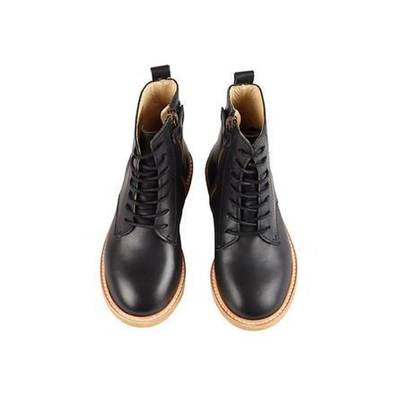 Rodney Black Leather Boot