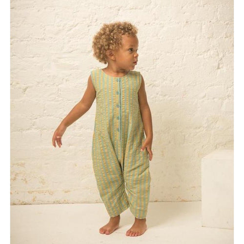 Garden Green Seersucker Playaway Playsuit