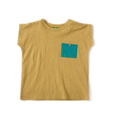 Golden Green Slub Jersey Breezy Tee