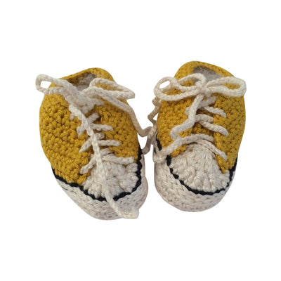 Yellow Baby Booties