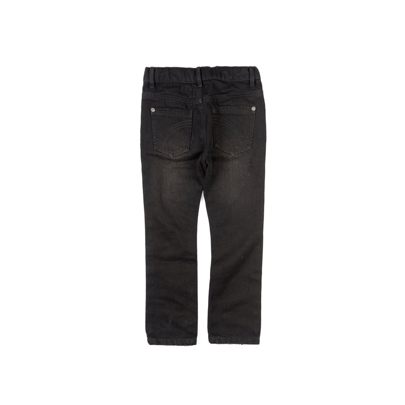 black denim slim leg