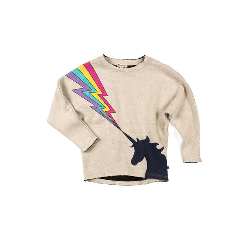 Speckled Cloud Slouchy Magic Unicorn Sweatshirt