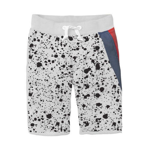 Grey Vintage Splatter Shorts