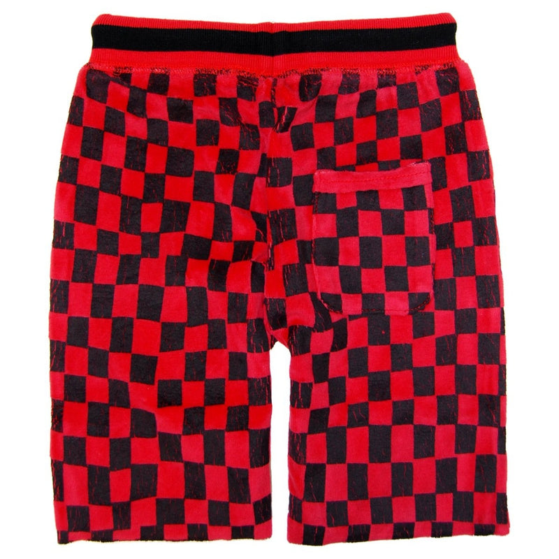 Red And Black Checkered Shorts
