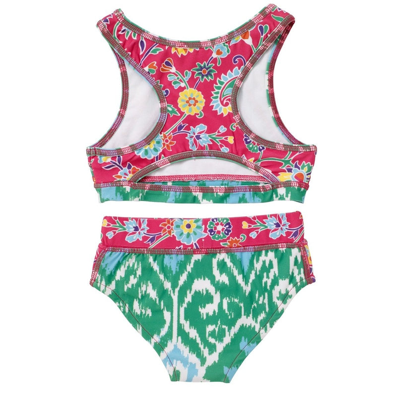 Floral Pink Ananya Racer Back Swimsuit