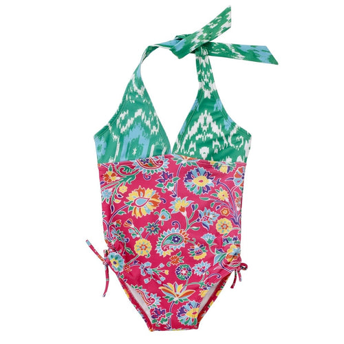 Floral Pink Ananya Halter Swimsuit