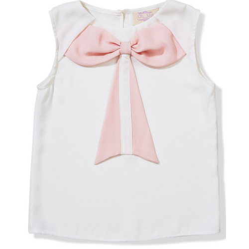 Pink Bow Blouse