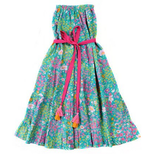 Paris Gypsy Aqua Rose Dress