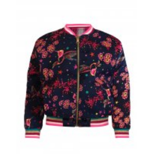 Black Iris Gemma Reversible Bomber Jacket
