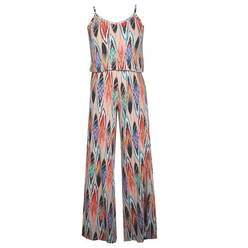 Feather V-neck Jumpsuit