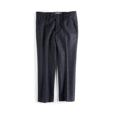 Charcoal Tailored Wool Pant