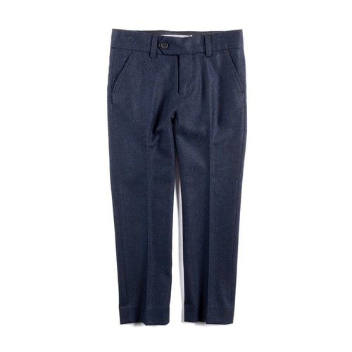 Navy Blue Tailored Wool Pant