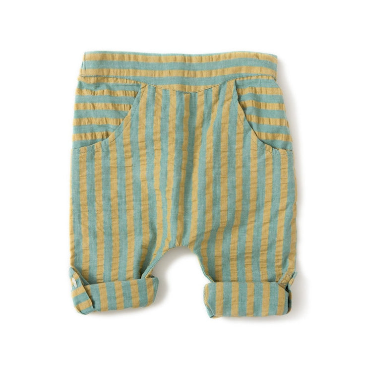 Garden Green Stripe Seersucker Trousers