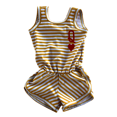 queen of hearts romper
